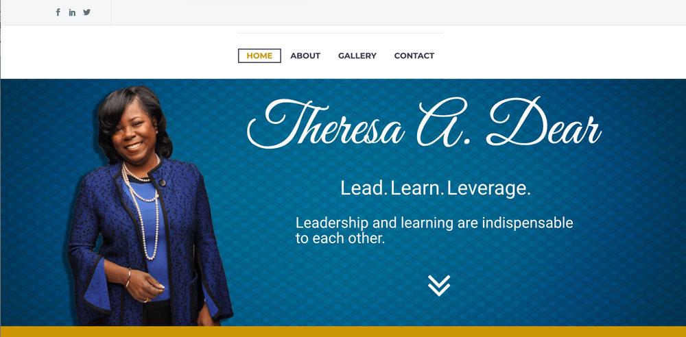 Theresa Dear Website Redesign